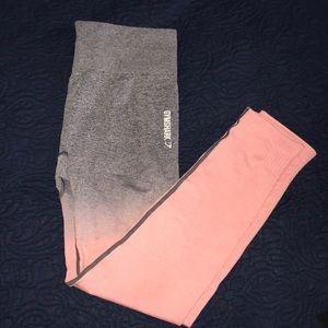 Gymshark Ombré Seamless Legging Peach PinkCharcoal